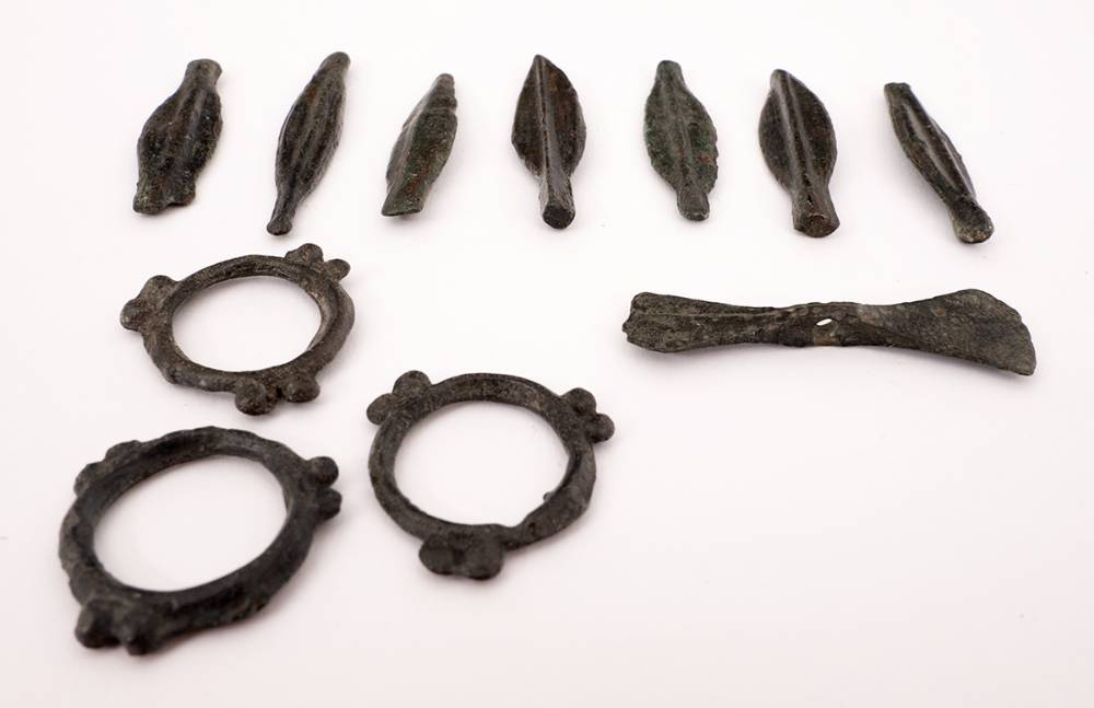 Circa 700BC collection of Celtic bronze proto money objects. (11) at Whyte's Auctions