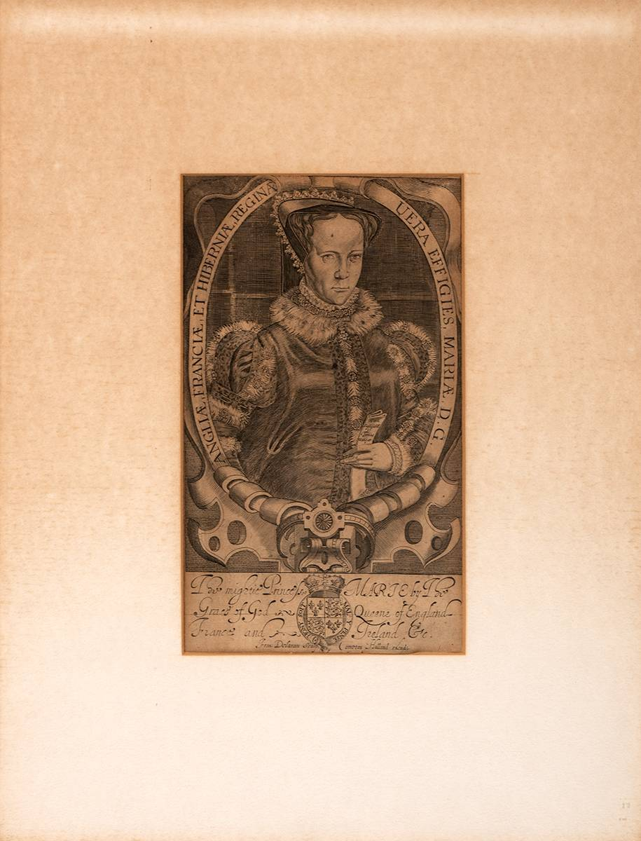 16th century engraving of Mary, Queen of England, France and Ireland. at Whyte's Auctions