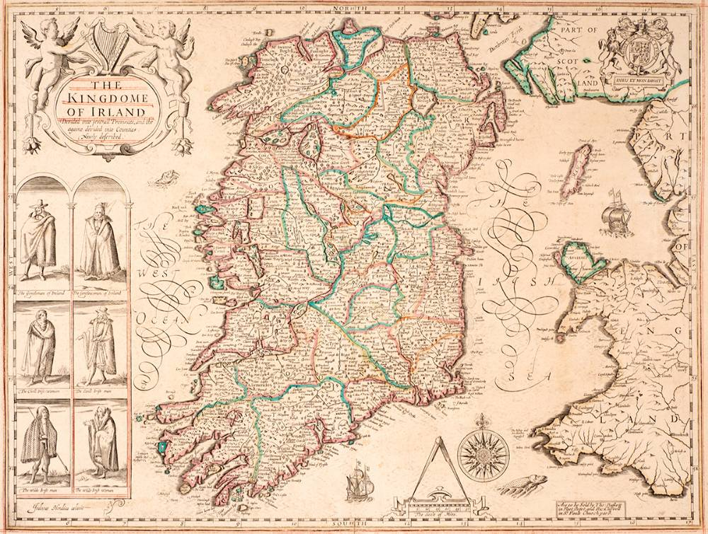 1675. John Speed map, The Kingdom of Ireland. at Whyte's Auctions