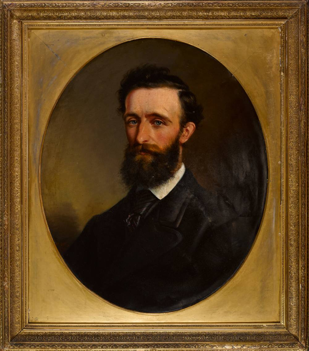 PORTRAIT OF A GENTLEMAN, 1870 by Margaret Allen sold for �1,600 at Whyte's Auctions