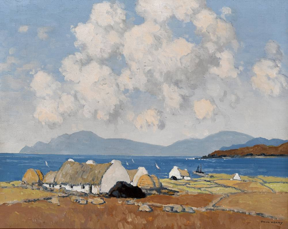 A SUNNY DAY, CONNEMARA, c.1940 by Paul Henry RHA (1876-1958) at Whyte's Auctions