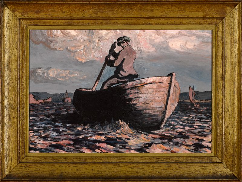 SCULLING, 1912 by Jack Butler Yeats sold for €190,000 at Whyte's Auctions