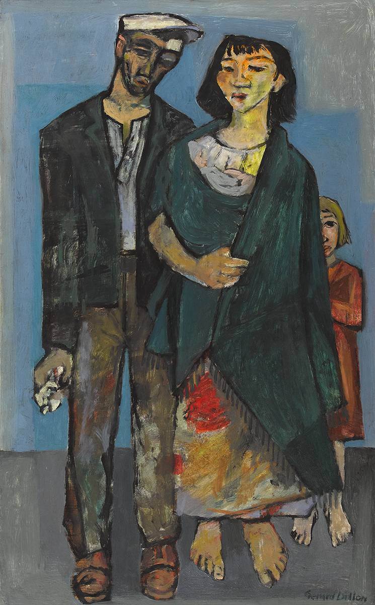 THE TINKER FAMILY, 1957 by Gerard Dillon sold for €70,000 at Whyte's Auctions