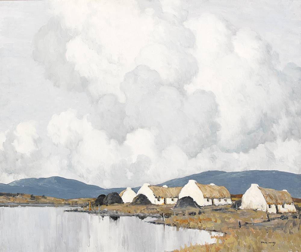 THE BLUE HILLS OF CONNEMARA, 1933 by Paul Henry sold for €240,000 at Whyte's Auctions