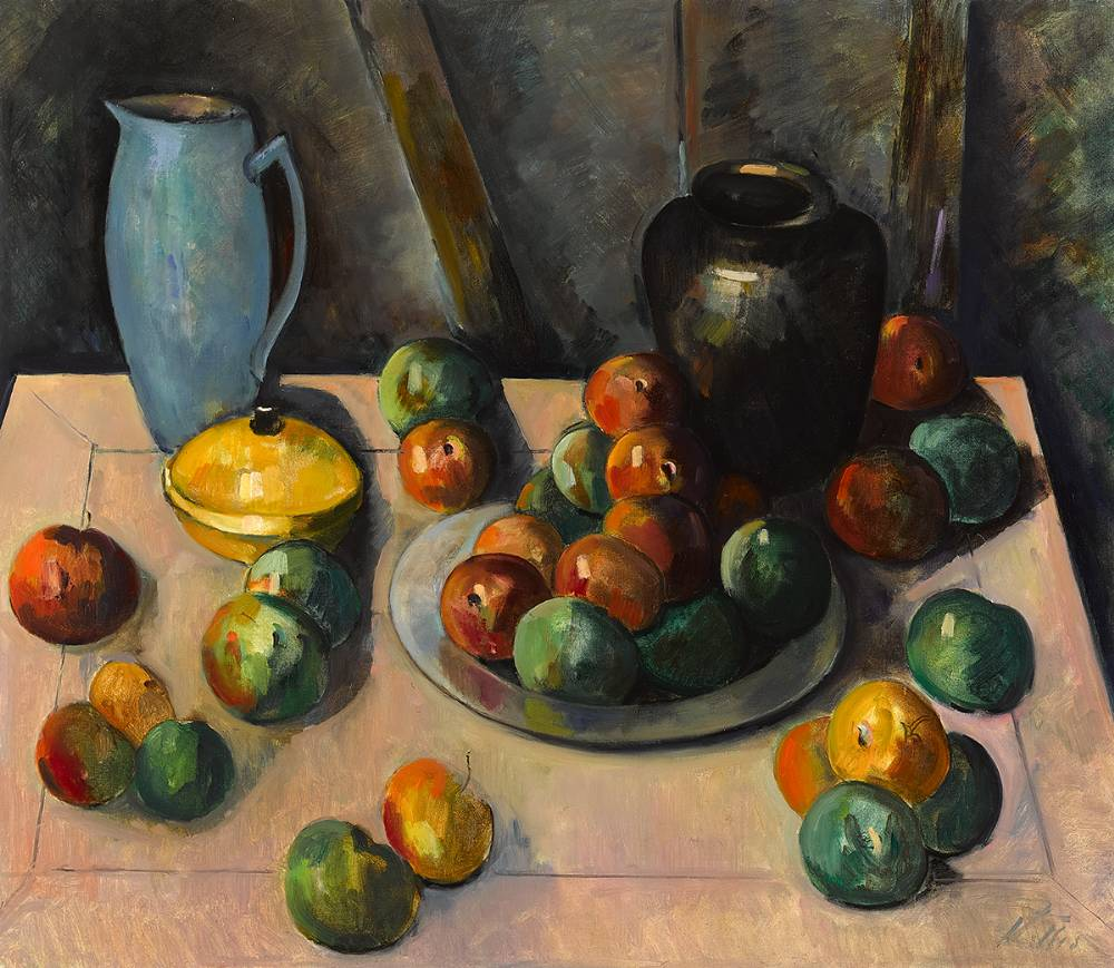 STILL LIFE WITH PEWTER PLATE by Peter Collis RHA (1929-2012) at Whyte's Auctions