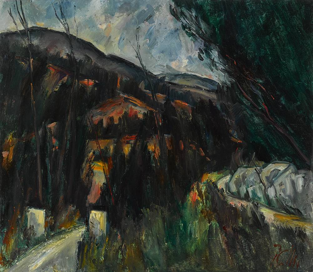LANDSCAPE AT KNOCKREE, COUNTY WICKLOW by Peter Collis RHA (1929-2012) at Whyte's Auctions