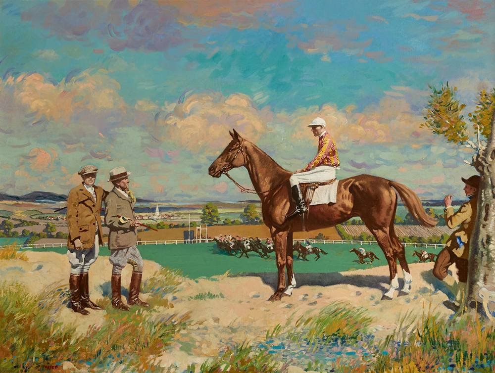SERGEANT MURPHY AND THINGS; MR STEPHEN SANFORD'S SERGEANT MURPHY WITH CAPTAIN 'TUPPY' BENNETT AND THE TRAINER GEORGE BLACKWELL by Sir William Orpen sold for €175,000 at Whyte's Auctions