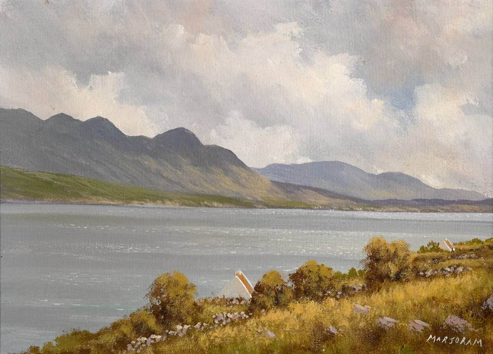 NEAR KILLARY HARBOUR, COUNTY GALWAY by Gerry Marjoram (b.1936) at Whyte's Auctions