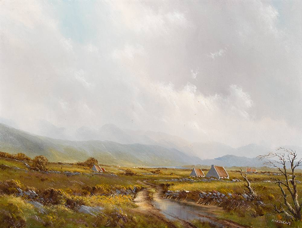 COTTAGES IN A LANDSCAPE by Gerry Marjoram (b.1936) at Whyte's Auctions