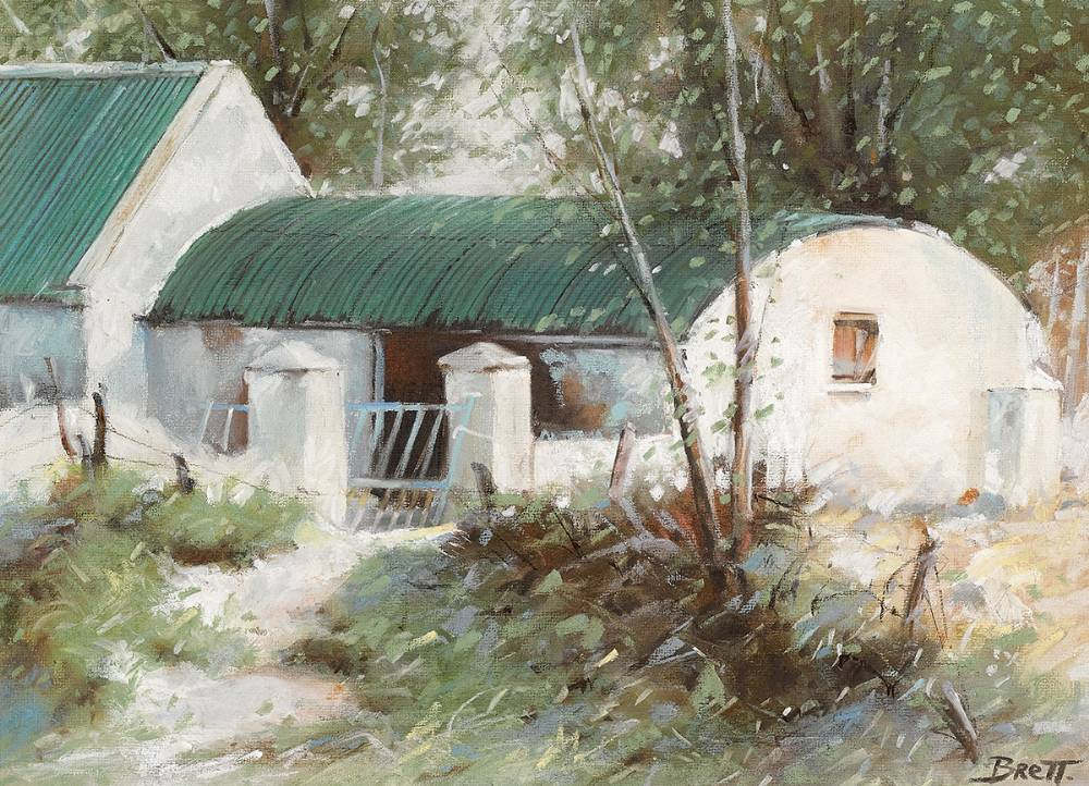 FARMYARD, CARNSORE, COUNTY WEXFORD by Michael Brett (b.1939) at Whyte's Auctions