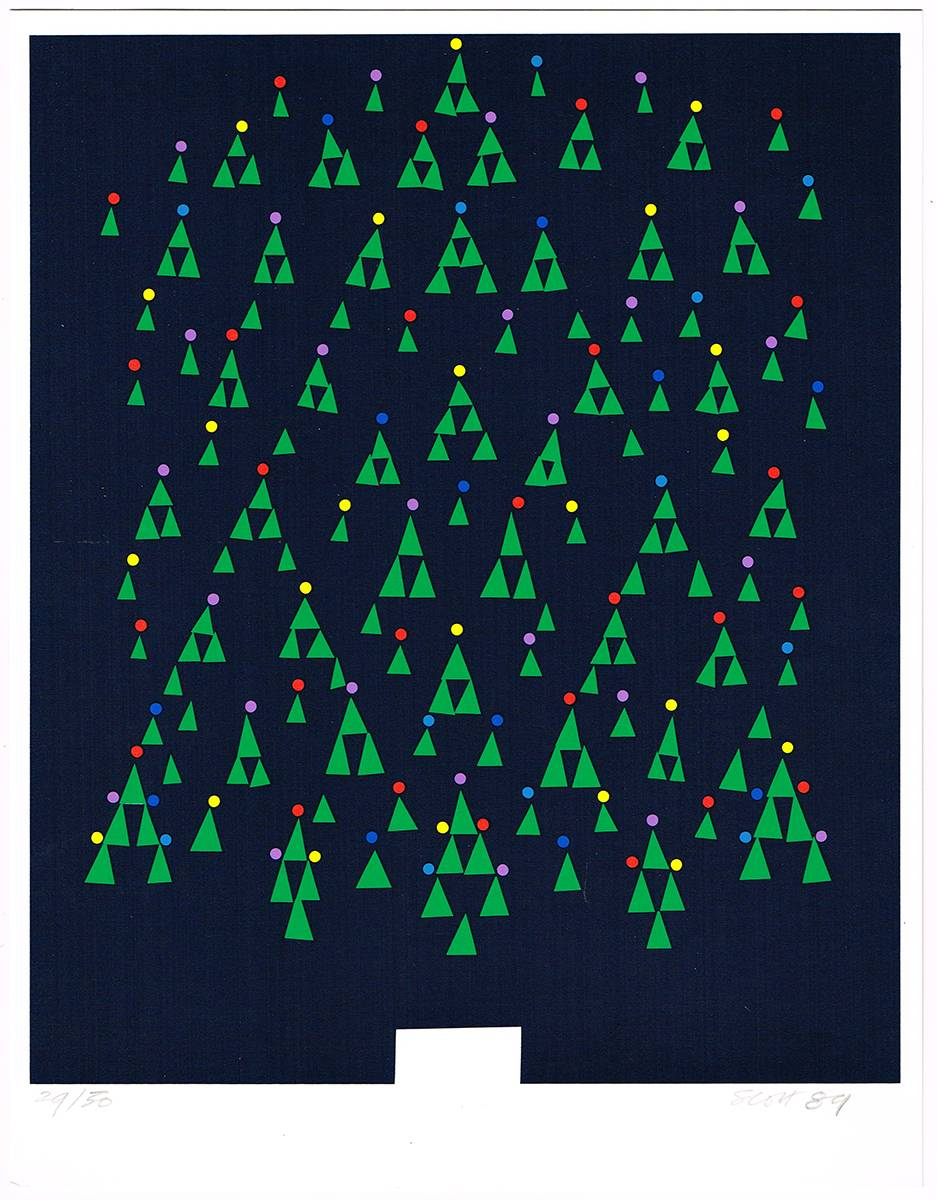 CHRISTMAS GREETING CARD, 1989 by Patrick Scott HRHA (1921-2014) at Whyte's Auctions