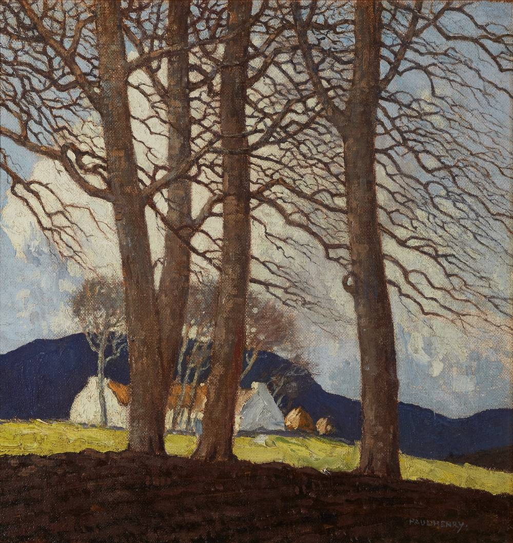 SPRING IN WICKLOW, c. 1926-8 by Paul Henry sold for €150,000 at Whyte's Auctions