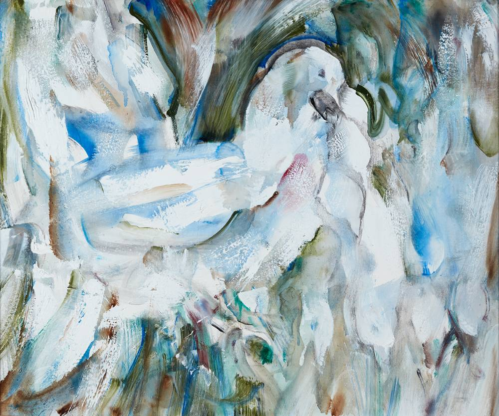 DOVES, 1993-4 by Louis le Brocquy sold for �40,000 at Whyte's Auctions