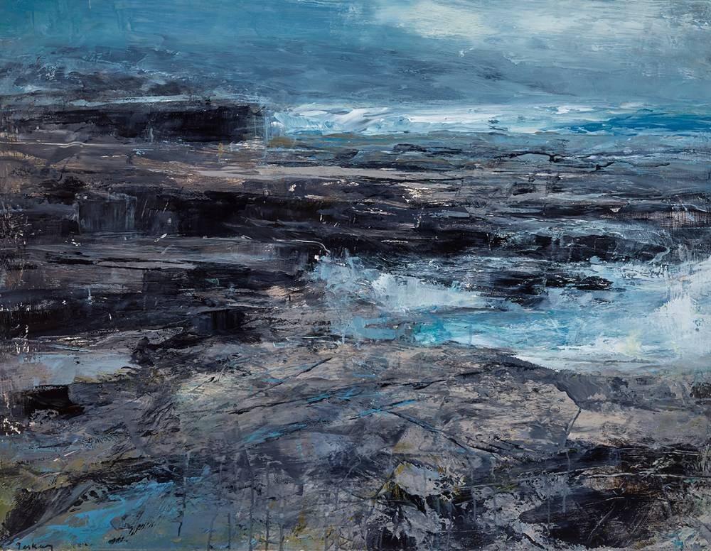 COASTAL REPORT IV - DOWNPATRICK HEAD, COUNTY MAYO, 2016 by Donald Teskey sold for €30,000 at Whyte's Auctions